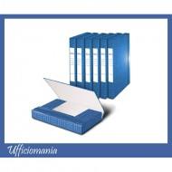 Portaprogetti con elastico Dorso 7cm Blu