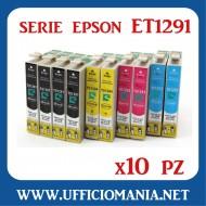 10 Cartucce compatibili EPSON serie ET1291
