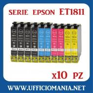 10 cartucce compatibili EPSON serie ET1631 - 4x Nero / 2x Ciano / 2 Magenta - 2x Giallo
