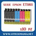10 cartucce compatibili EPSON serie ET1811