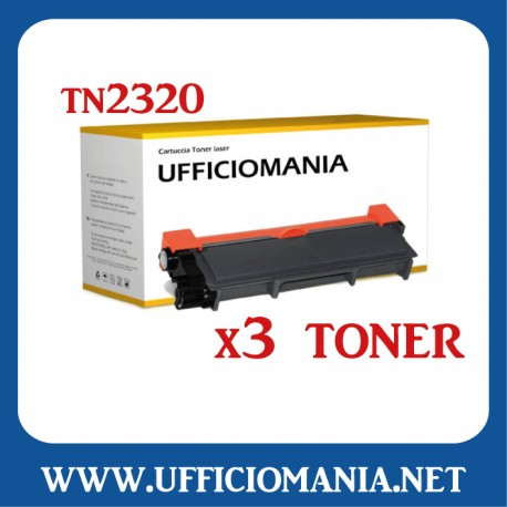 Toner compatibile BROTHER modello TN2320 / TN2310 - Nero 2,6k