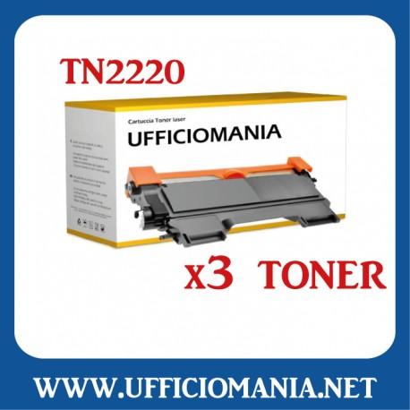 Toner compatibile BROTHER modello TN2220 / TN2010 / TN450 - Nero 2,5k