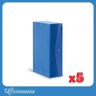 Cartelle portaprogetti Dorso 6cm Blu