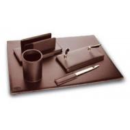 Set da scrivania linea coordinata 5 pezzi marrone