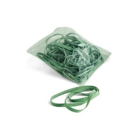 Elastici in gomma a fettuccia verde diam. 100mm kg 1