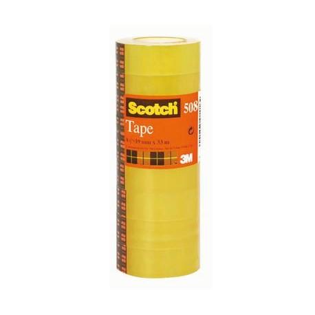 Nastro adesivo trasparente 3M SCOTCH 508 19mm x 33mt - 8 pezzi