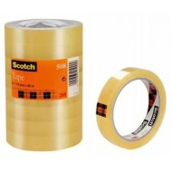 Nastro adesivo trasparente 3M SCOTCH 508 19mm x 66mt - 8 pezzi