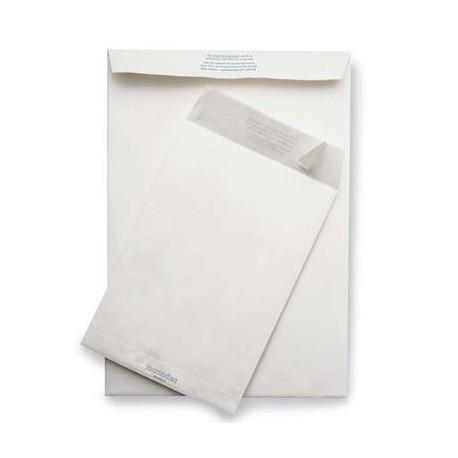 Buste bianche a sacco internografate f.to 16x23cm 80gr - 100 pezzi