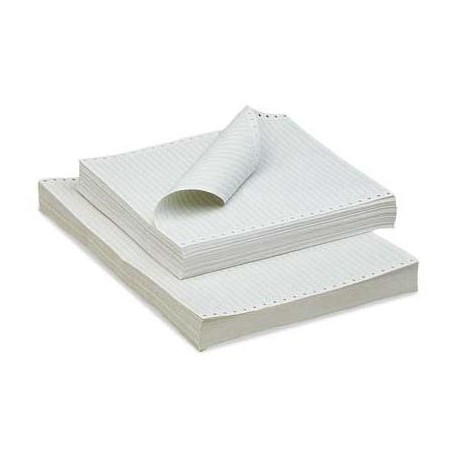 "Carta bianca in modulo continuo 24x11"" 60gr - 2000 fogli"