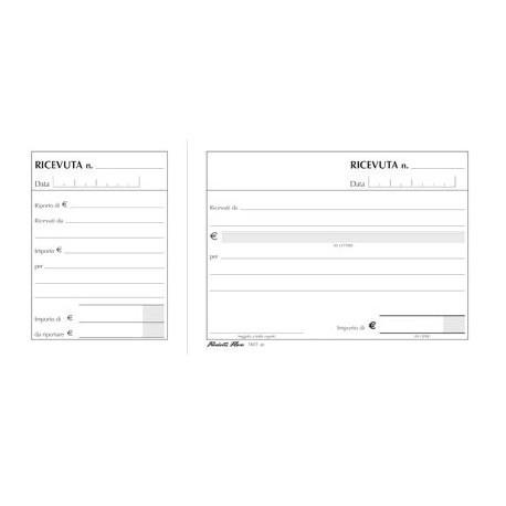 Ricevute generiche in duplice copia (50x2) F.to 17x10cm