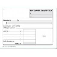 Ricevute affitto in duplice copia (50x2) F.to 10x17cm